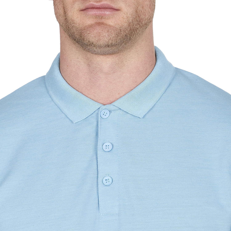 Mens Polo Shirt Classic Plain Big and Tall Plus Size T-Shirts Sky Blue