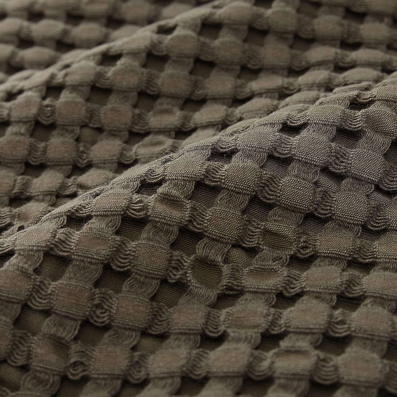 "180cm x 230cm Bett/überwurf Decke 100/% Baumwolle Moosgr/ün Kuscheldecke URBANARA Tagesdecke /""Veiros Sao/"""