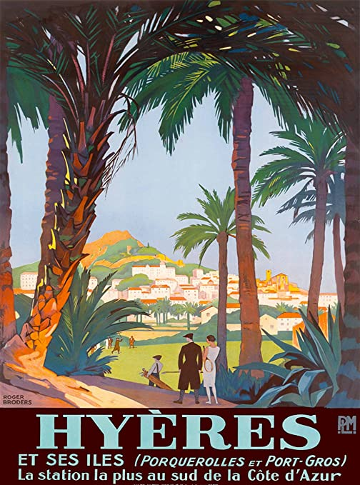 La Cote d/' Azur French Riviera France Europe Travel Poster Art Advertisement