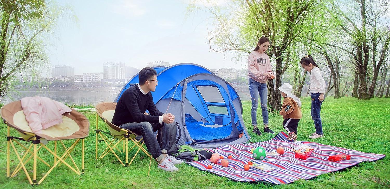HUIYINGYANG Tienda desplegable instant/ánea autom/ática y configuraci/ón instant/ánea para 3 personas Vacaciones en la playa//Familia Jard/ín//C/ámping//Pesca Tienda impermeable Azul Blue
