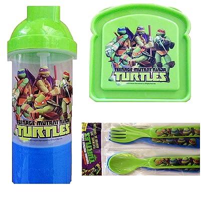 Amazon.com: Teenage Mutant Ninja Turtles 3 Piece Lunch SET ...
