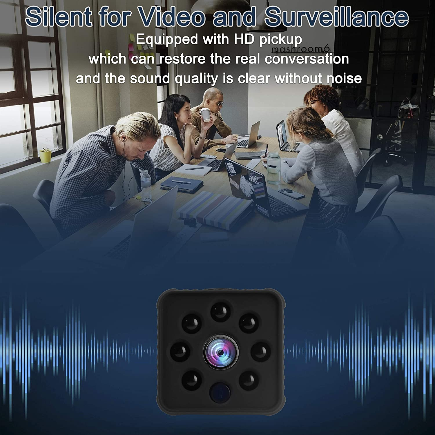 Portable Nanny Camera for Home//Office//Pet//Baby//Car TFWell Spy Camera Wireless Hidden Tiny Security Spy Cam 1080P HD Mini Nanny Cams with Upgraded Night Vision and Motion Detection Spy Cam