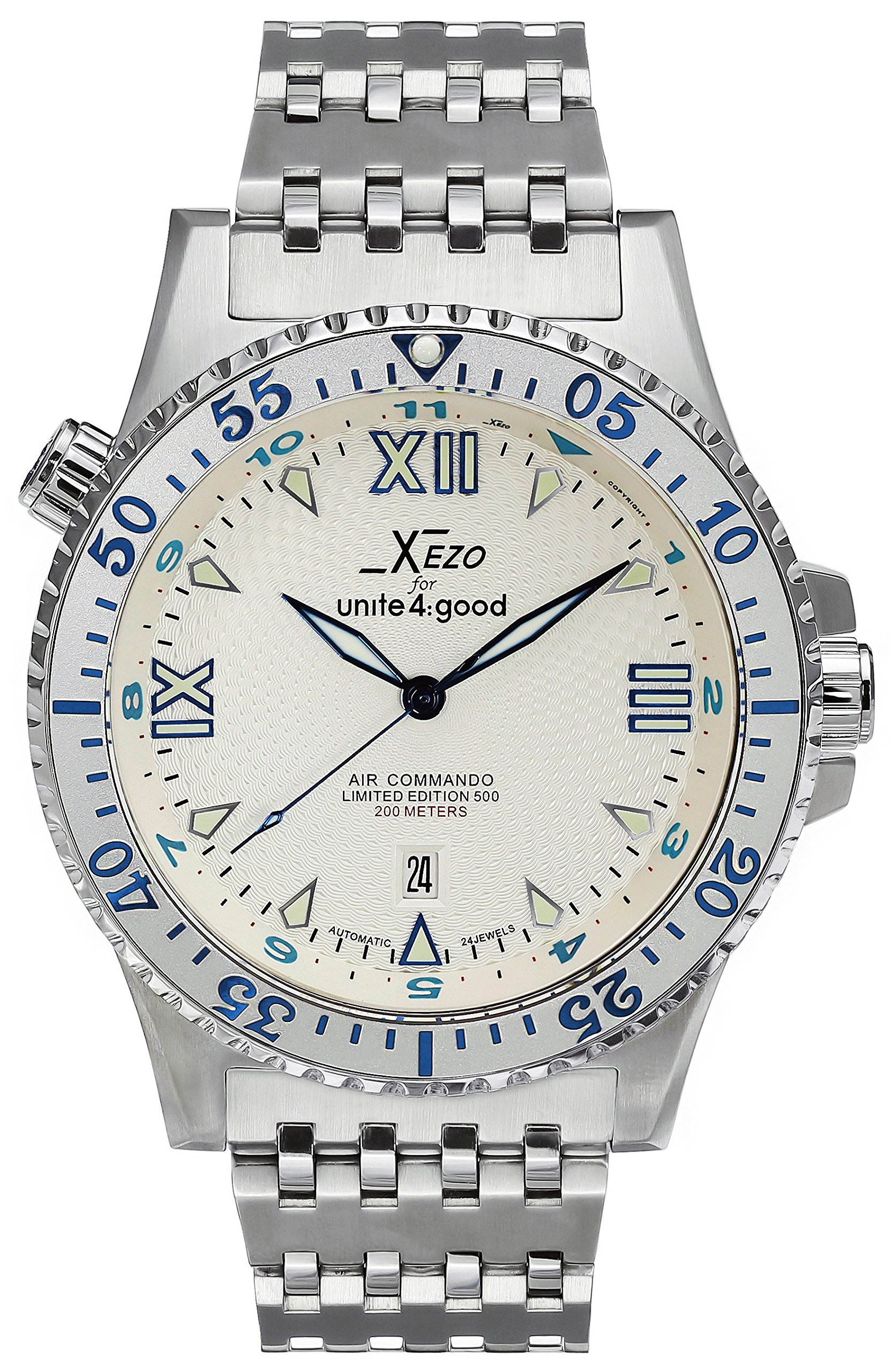 Xezo Men's Air Commando Japanese-Automatic Dive Luxury Watch by Xezo