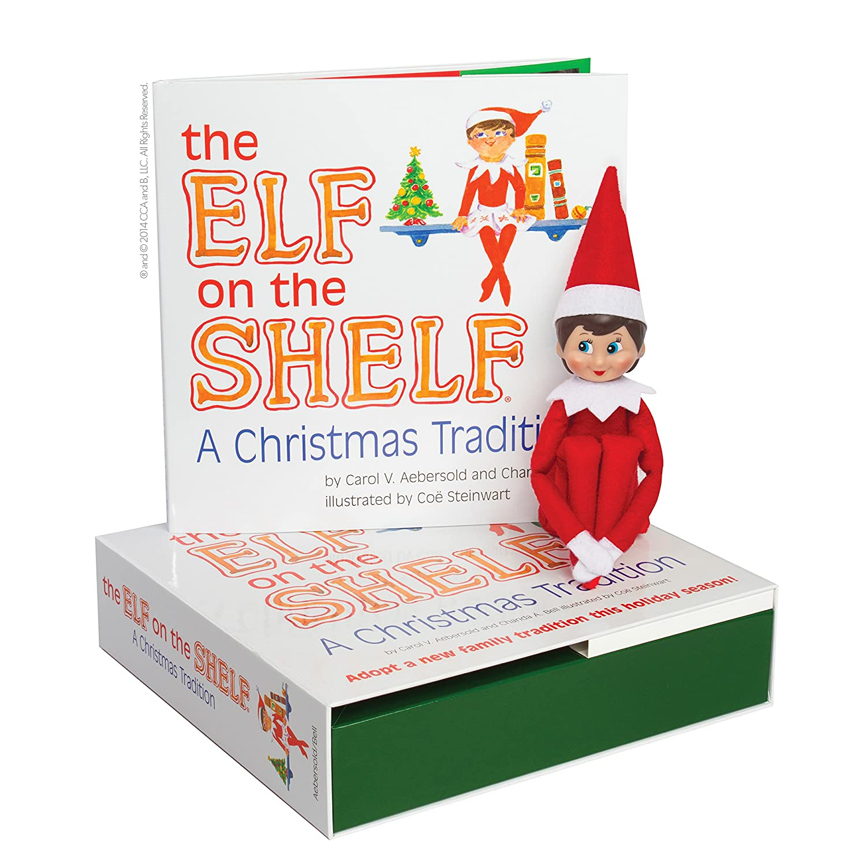 Amazon.com: Elf on the Shelf: A Christmas Tradition (blue-eyed girl ...