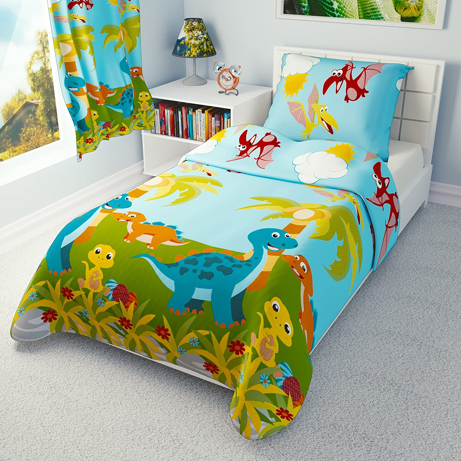 Babies Island IKEA Cot Bedding Duvet Cover Pillowcase 110 x 125 cm - many designs available (Little Dinosaur) Babies-Island