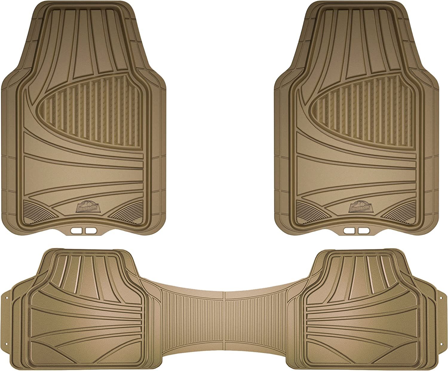 Armor All 78845 Tan 3-Piece Full Coverage Rubber Floor Mat