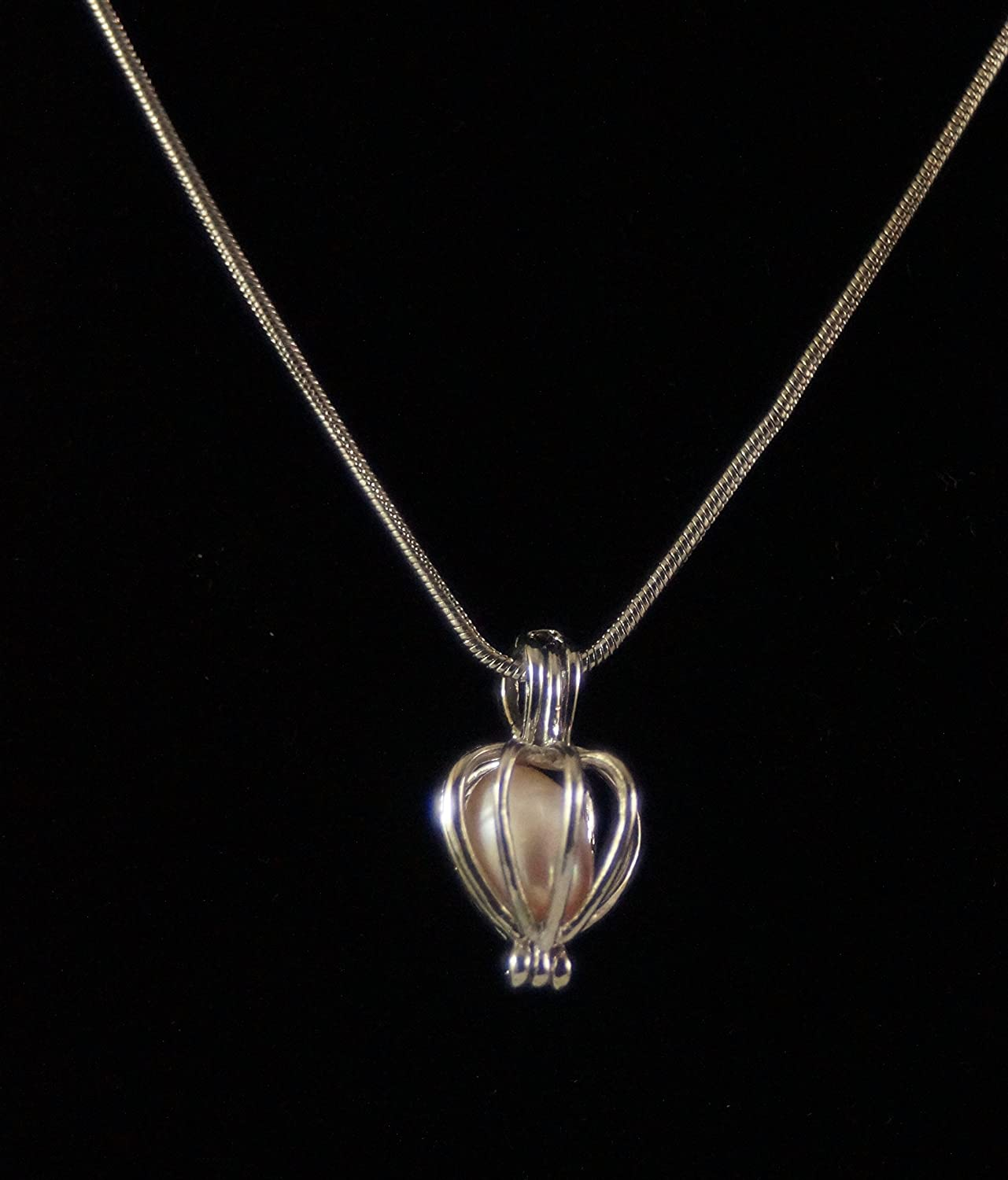 Love Pearl In Clamshell Locket & Silver Necklace Happy Birthday e0Ser7sAR