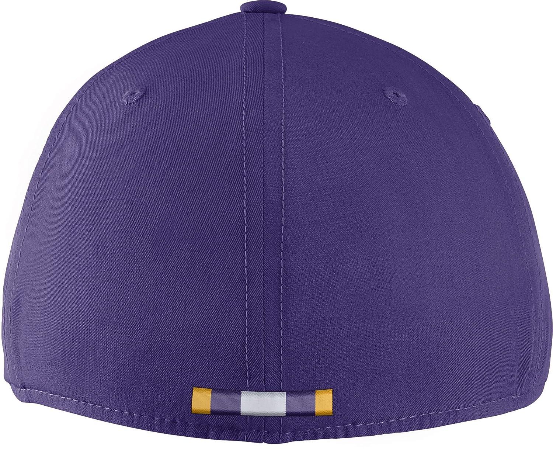 NIKE Mens LSU Tigers Purple Aerobill Swoosh Flex Classic99 Football Sideline Hat