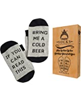ITACH Beer Lovers Gift Socks - If You Can Read This Bring Me a Cold Beer Socks + Gift Box - Perfect Funny Gift Idea for Birthday, Dad and Best Friends