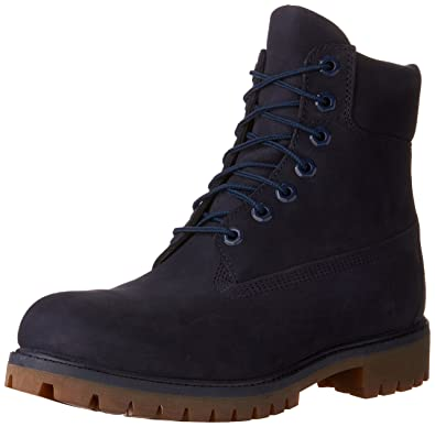"b39a7c1bef82df Timberland Men's 6"" Premium Waterproof Boot Navy Monochrome ..."