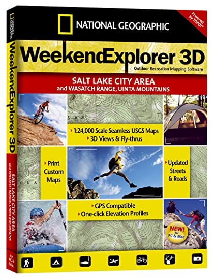 Amazon.com: National Geographic TOPO! Weekend Explorer 3D Salt Lake ...