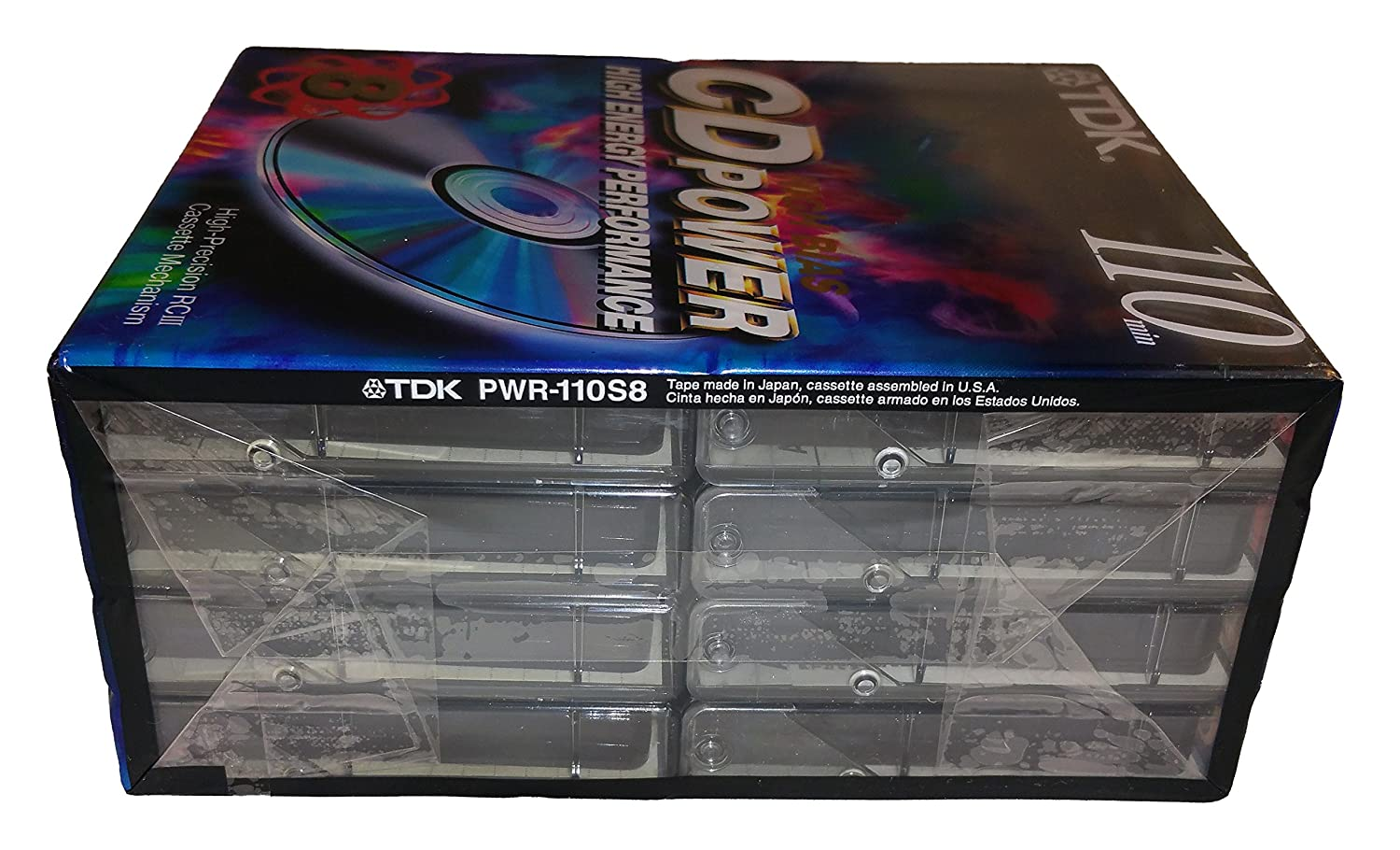 Amazon.com: TDK CD Power 110 High Bias High Energy Performance Blank Audio Cassette Tapes - 8 Pack: Home Audio & Theater