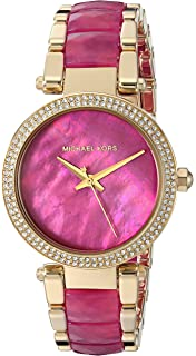 a5ba2ac3f38b Michael Kors Women s  Mini Parker  Quartz Stainless Steel Casual ...