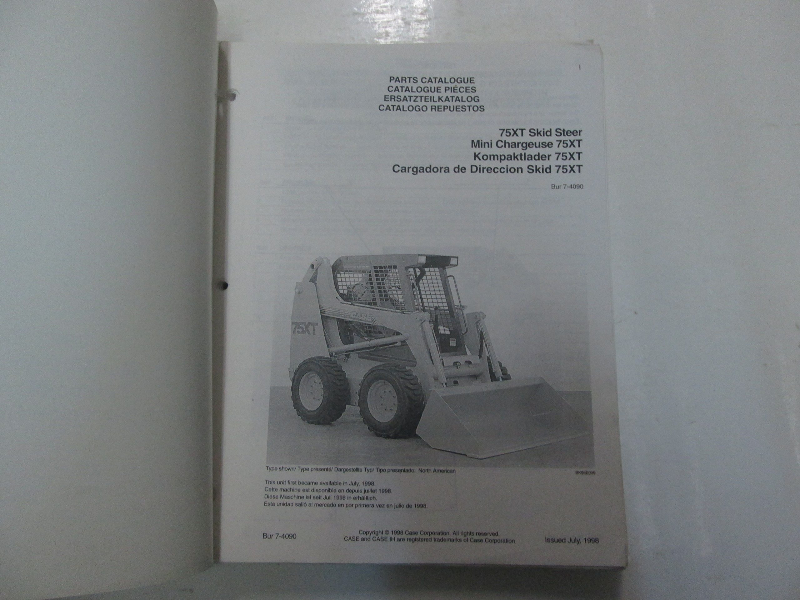 CASE 75XT Skid Steer Parts Catalog Manual LOOSE LEAF MINOR WEAR OEM ***: CASE: Amazon.com: Books