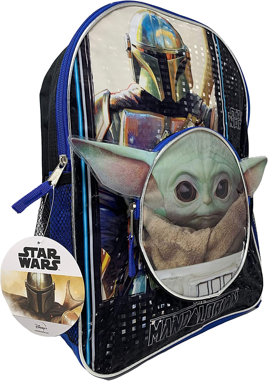 Star WarsThe Child Baby Yoda 16 Backpack with Head Shaped Front Pocket