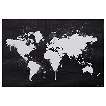 Amazon black and white paint drip world map canvas print 36 x black and white paint drip world map canvas print 36quot gumiabroncs Gallery