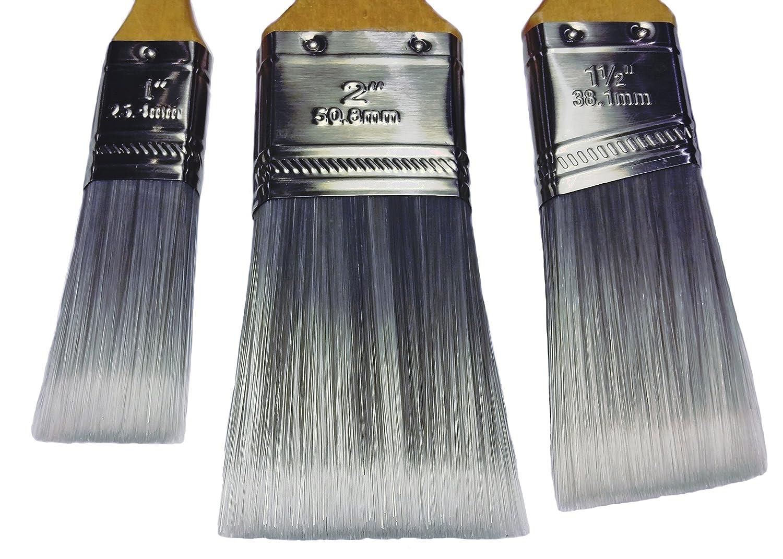 Profipinsel mit Kunststoffborsten No Loss Pinsel 3 St/ück Babo-Tools Pinselset 1 2 1 1//2 Premium Pinsel Set Flachpinsel