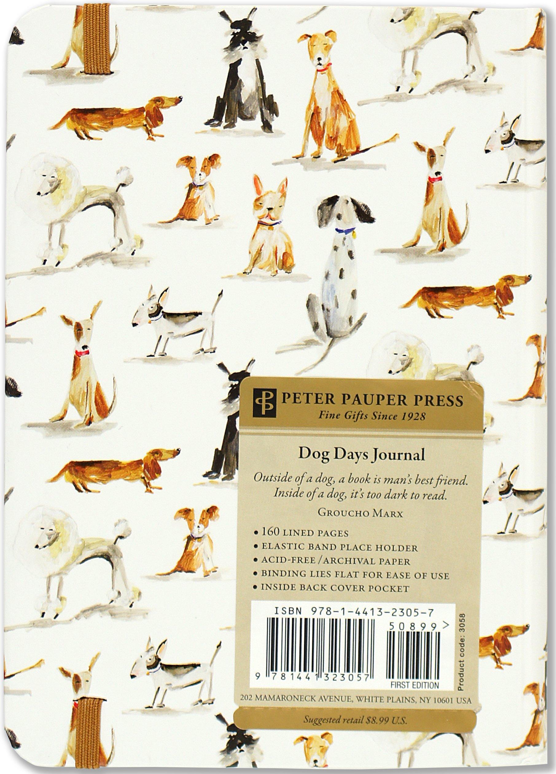 dog days journal diary notebook peter pauper press