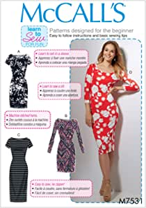 McCall Patterns M75310Y0 Misses Knit Bodycon Dresses