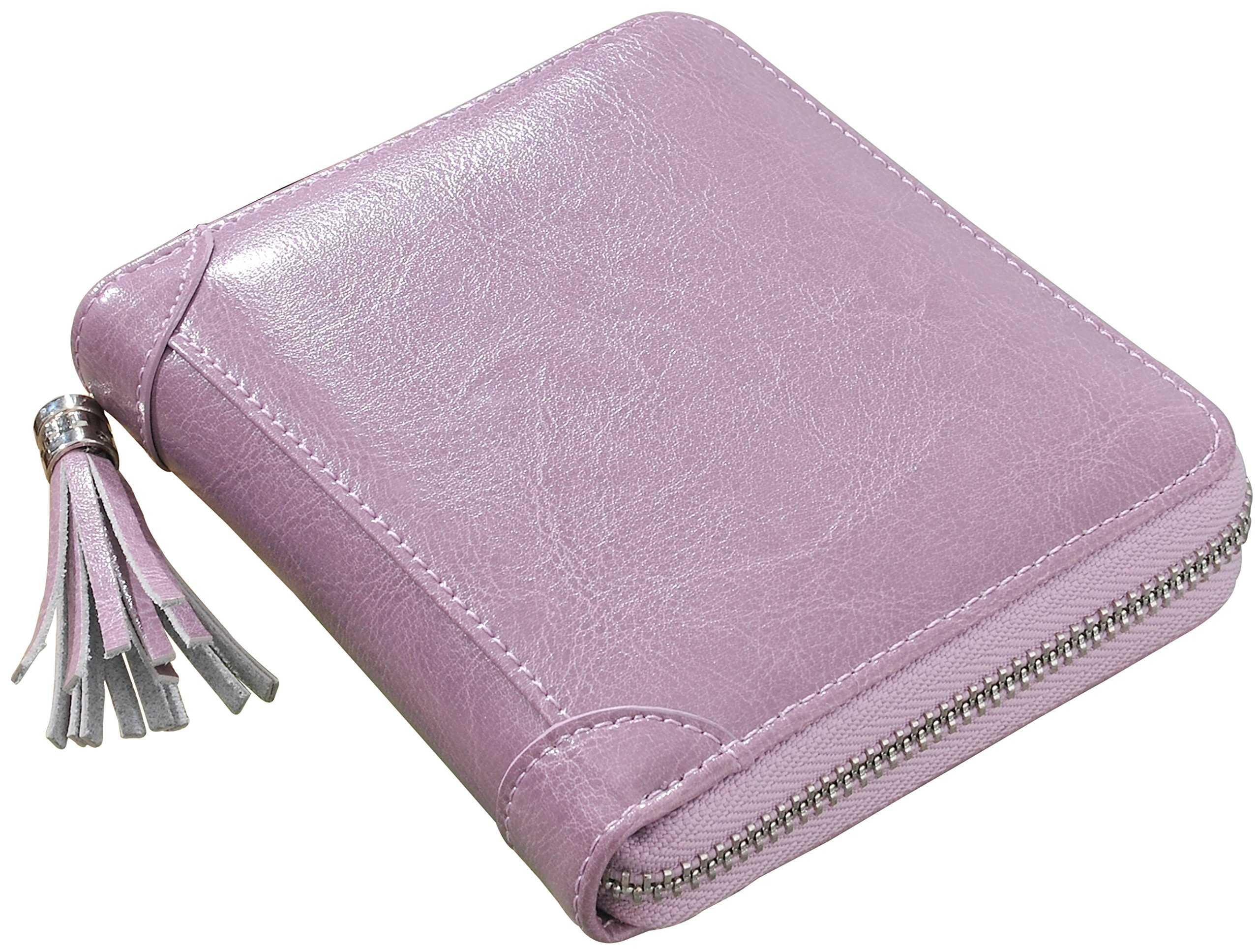 Yuhan Pretty Womens Credit Card Wallet RFID Small Leather ID Card Holder Case (40 Card Slots - Purple) by Yuhan Pretty (Image #7)