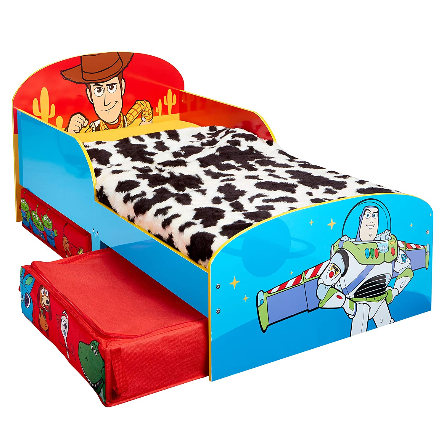 x 77cm L Toy Story 4 Kids Toddler Bed with Storage Drawers by HelloHome 143cm x 63cm W