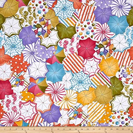 f1a372c82 Image Unavailable. Image not available for. Color  Loralie Designs Lazy  Beach Umbrellas Fabric by The Yard
