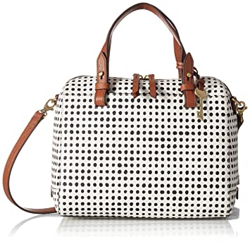 Buy Fossil Rachel Satchel White with Black 36caa62a3f398