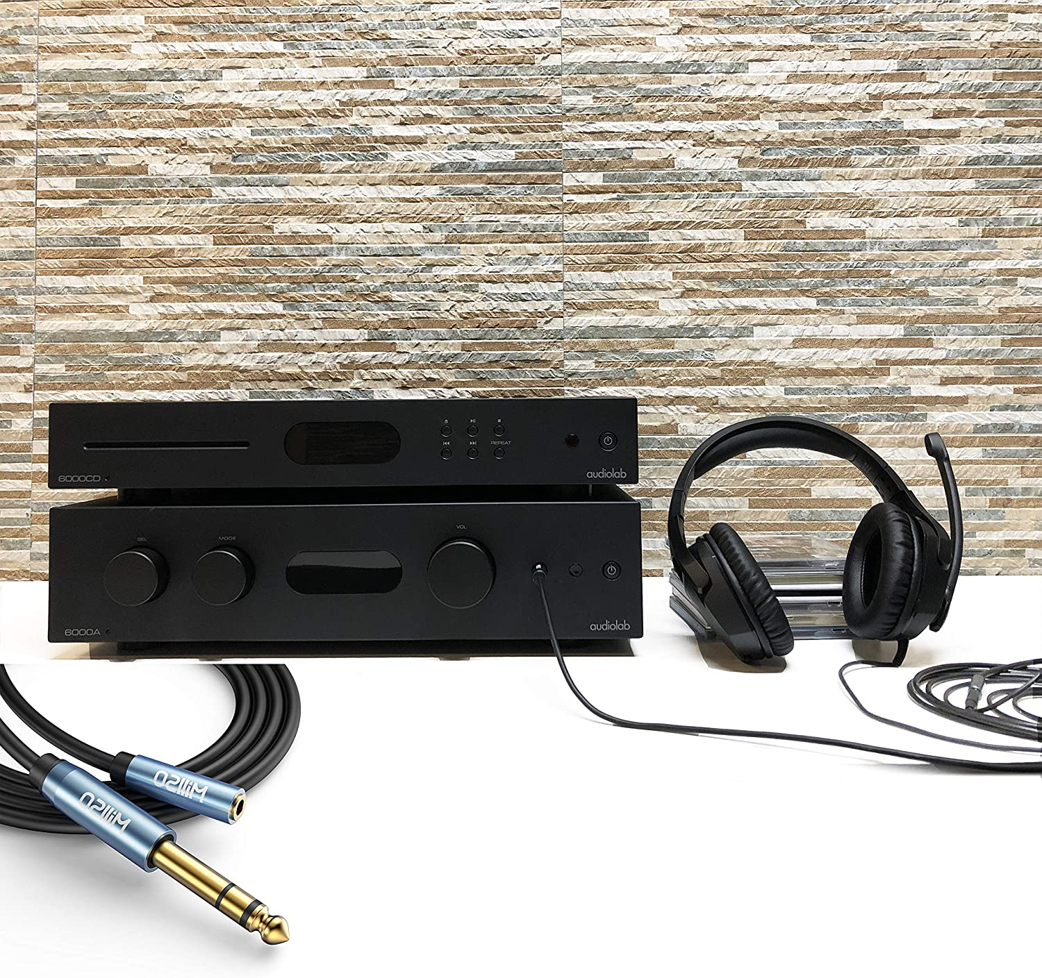 Keyboard Piano Headphones 6.6 Feet//2M Guitar Amp Home Theater MillSO 1//4 to 3.5mm Headphone Adapter 6.6ft TRS 6.35mm 1//4 Male to 3.5mm 1//8 Female Stereo Jack Audio Adapter for Amplifiers