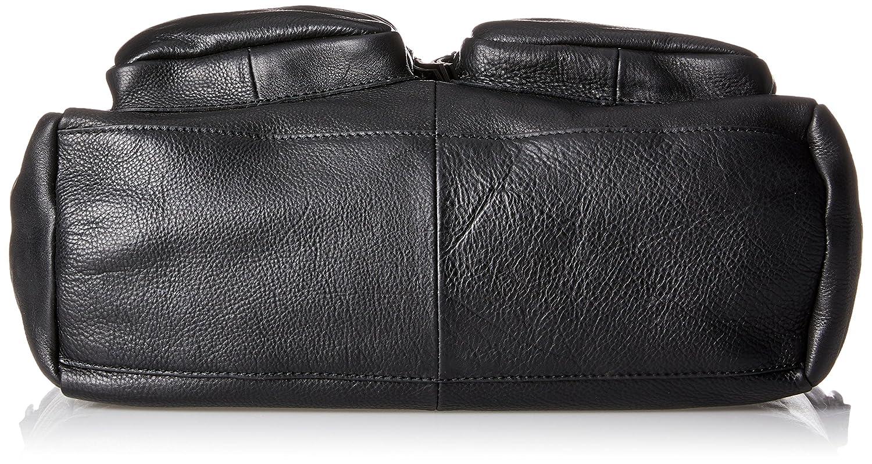 Black B x H T PIECES Schwarz Pcnikita Leather Bag Carteras de mano con asa Mujer 13x35x33 cm