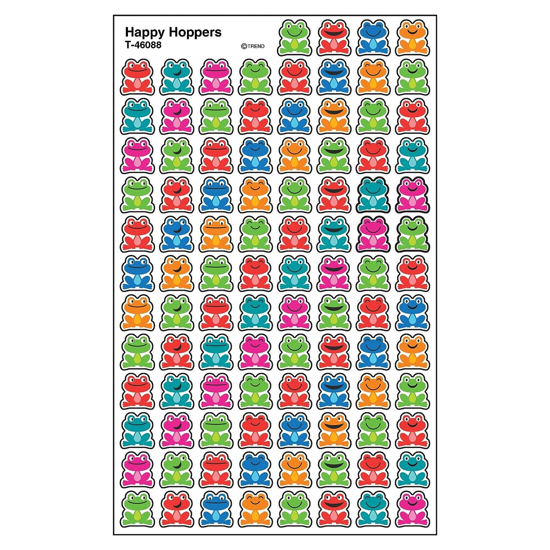 800 ct T-46088 TREND enterprises Inc Happy Hoppers superShapes Stickers