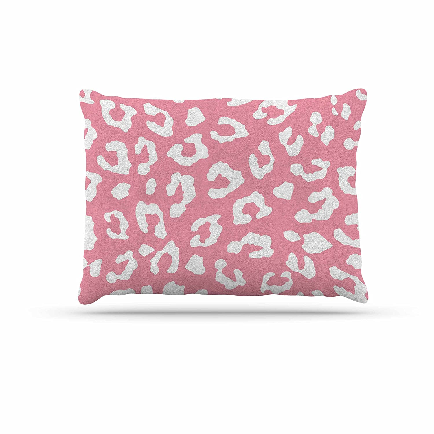 KESS InHouse Cafe lab Sweet Tropical White Pink Abstract Dog Bed, 50  x 40