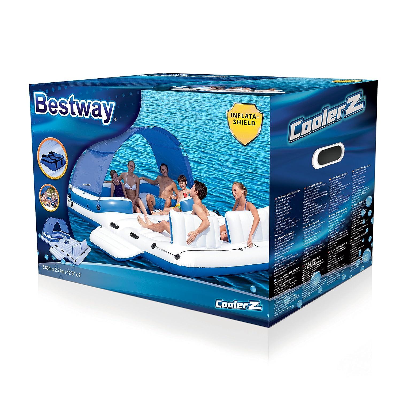 Bestway Badeinsel Tropical Breeze 389 X 274 Cm günstig kaufen Badespielzeug-Luftmatratzen Kinderbadespaß-Spielzeuge