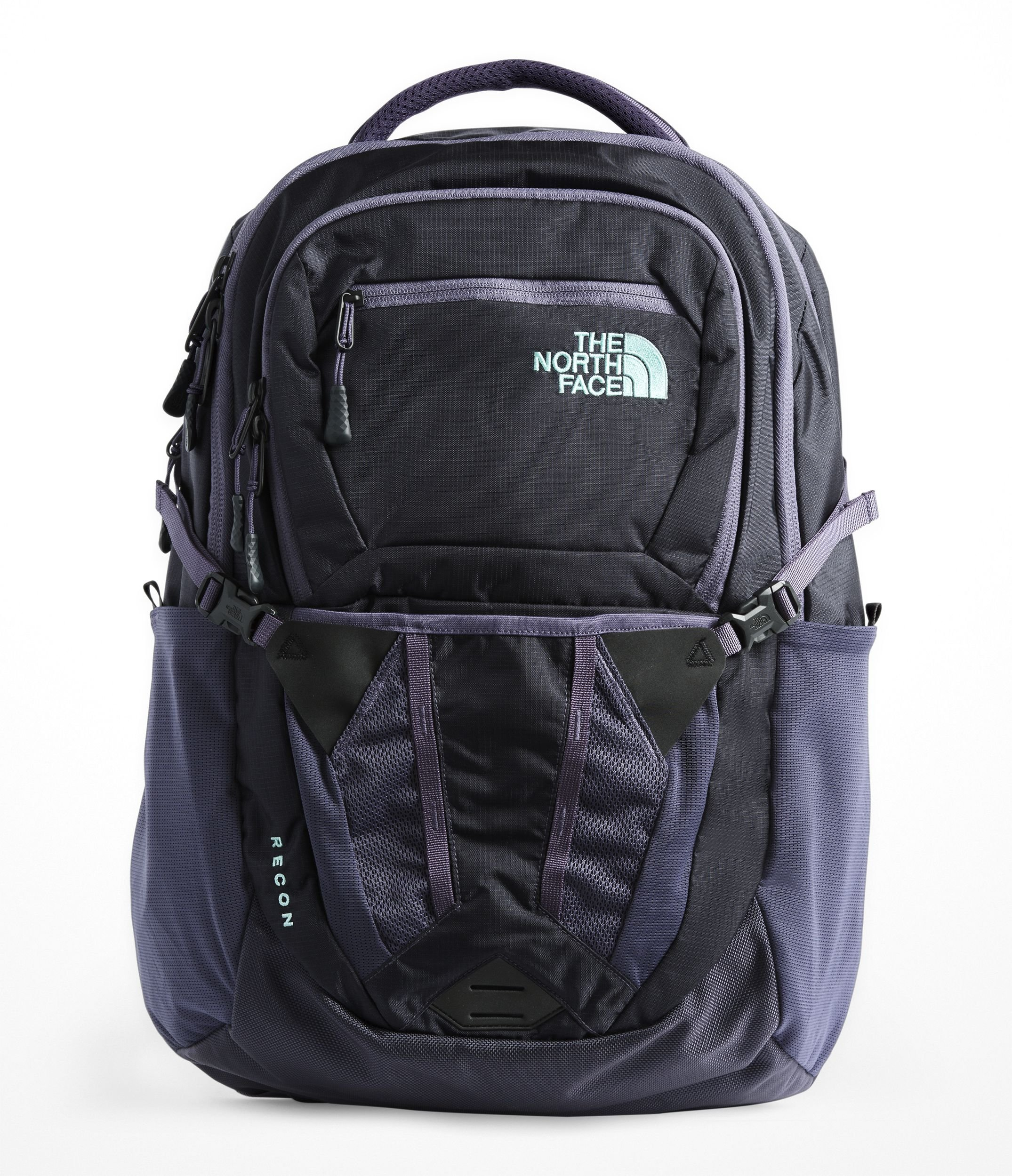 The North Face Women's Recon Laptop Backpack (Greystone Blue Ripstop/Mint Blue)
