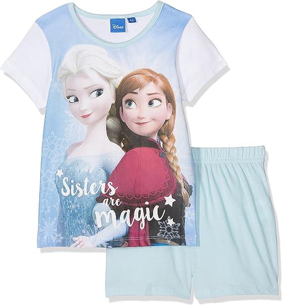 Pigiama corto in cotone Disney Frozen Elsa