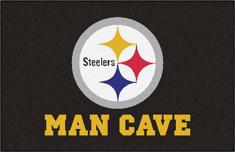 FANMATS 14357 NFL Pittsburgh Steelers Nylon Universal Man Cave Starter Rug