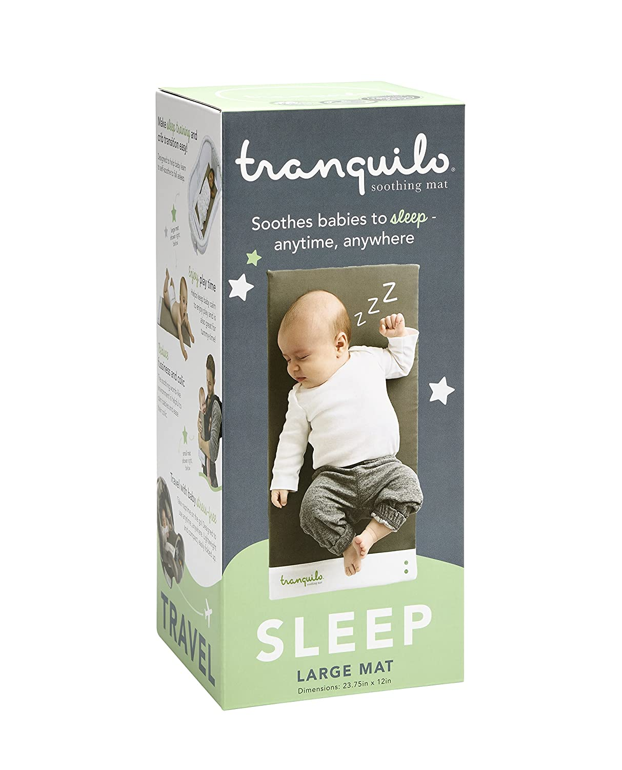 Tranquilo Mat: Portable Soothing Vibrating Baby Mat for Sleep & Playtime & Colic - Large: Infant 0-12 Months Tranquilo Inc. TM002L