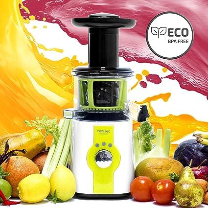 Cecotec Licuadora para frutas y verduras de prensado en frío, extractor de jugo, 45