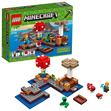 LEGO 21129 Minecraft The Mushroom Island: LEGO: Amazon.co.uk: Toys ...