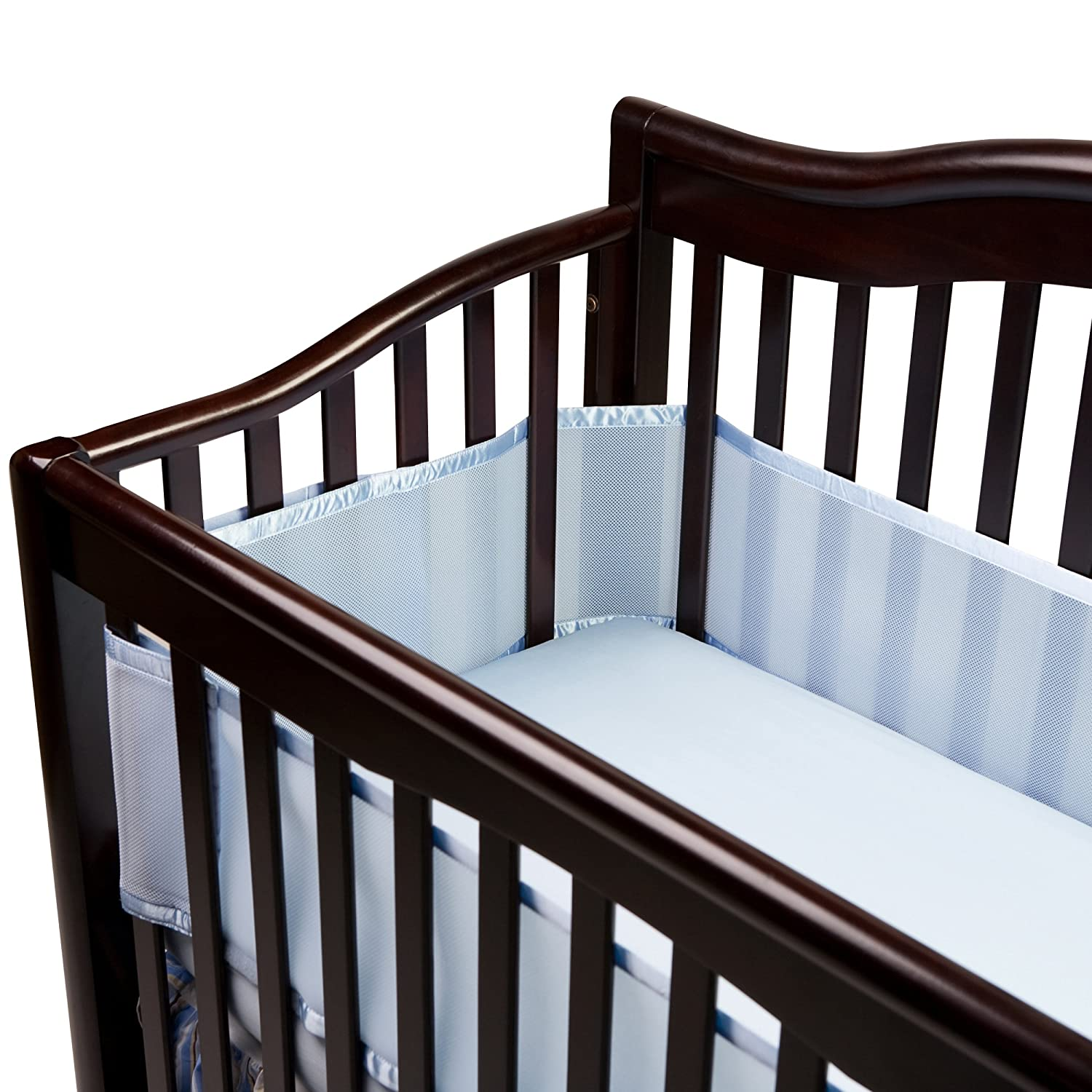 Amazon.com: BreathableBaby Breathable Mesh Crib Liner, Blue (Discontinued  By Manufacturer): Baby