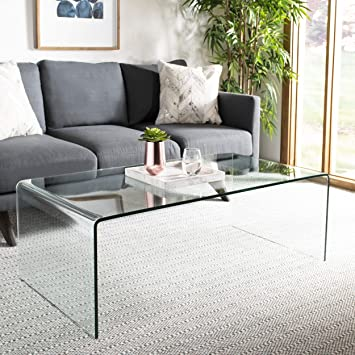 Amazon Com Safavieh Home Collection Willow Clear Coffee Table