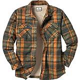 Legendary Whitetails Men's Deer Camp Fleece Lined Button Up Flannel Shirt Jacket