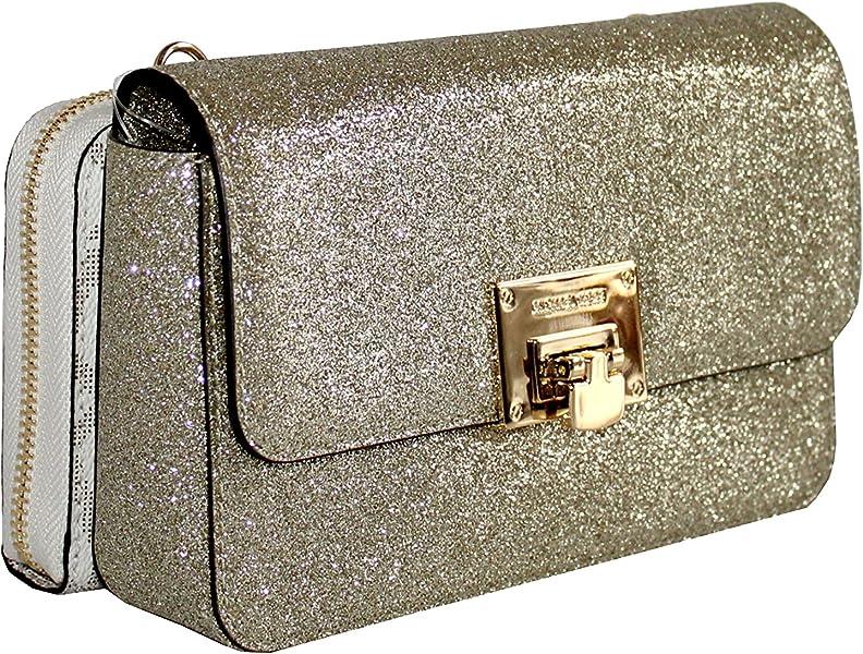 4c32094767d4 MICHAEL Michael Kors Tina Women's Wallet Clutch Xbody Shoulder Leather  Double Bag