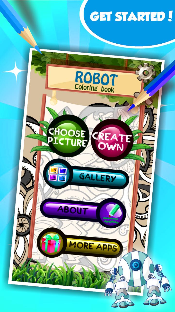 Robot para colorear libro: Amazon.es: Appstore para Android