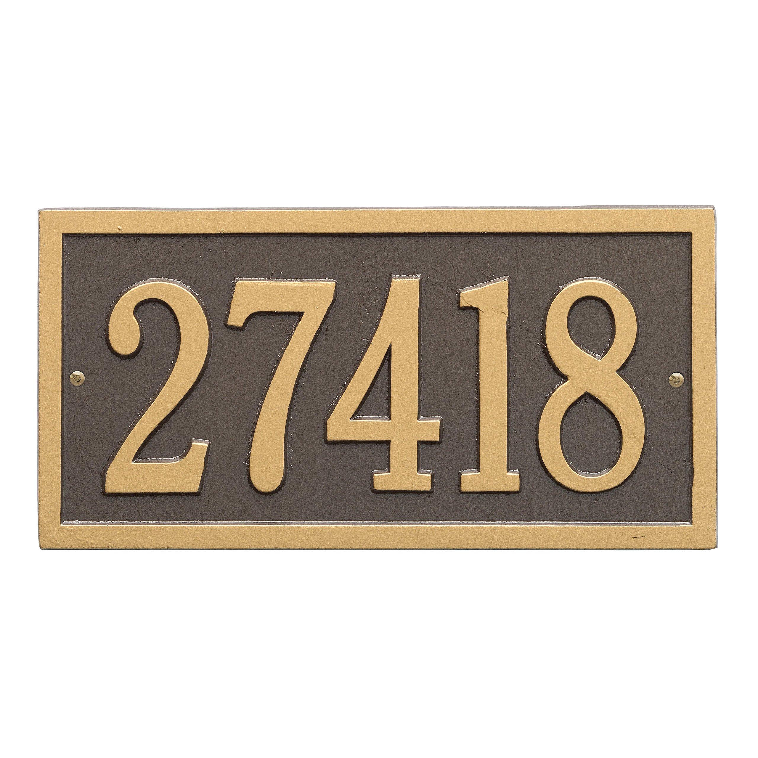 Bismark Address Plaque 14.75''L x 7.25''H (Personalize 1 Line)