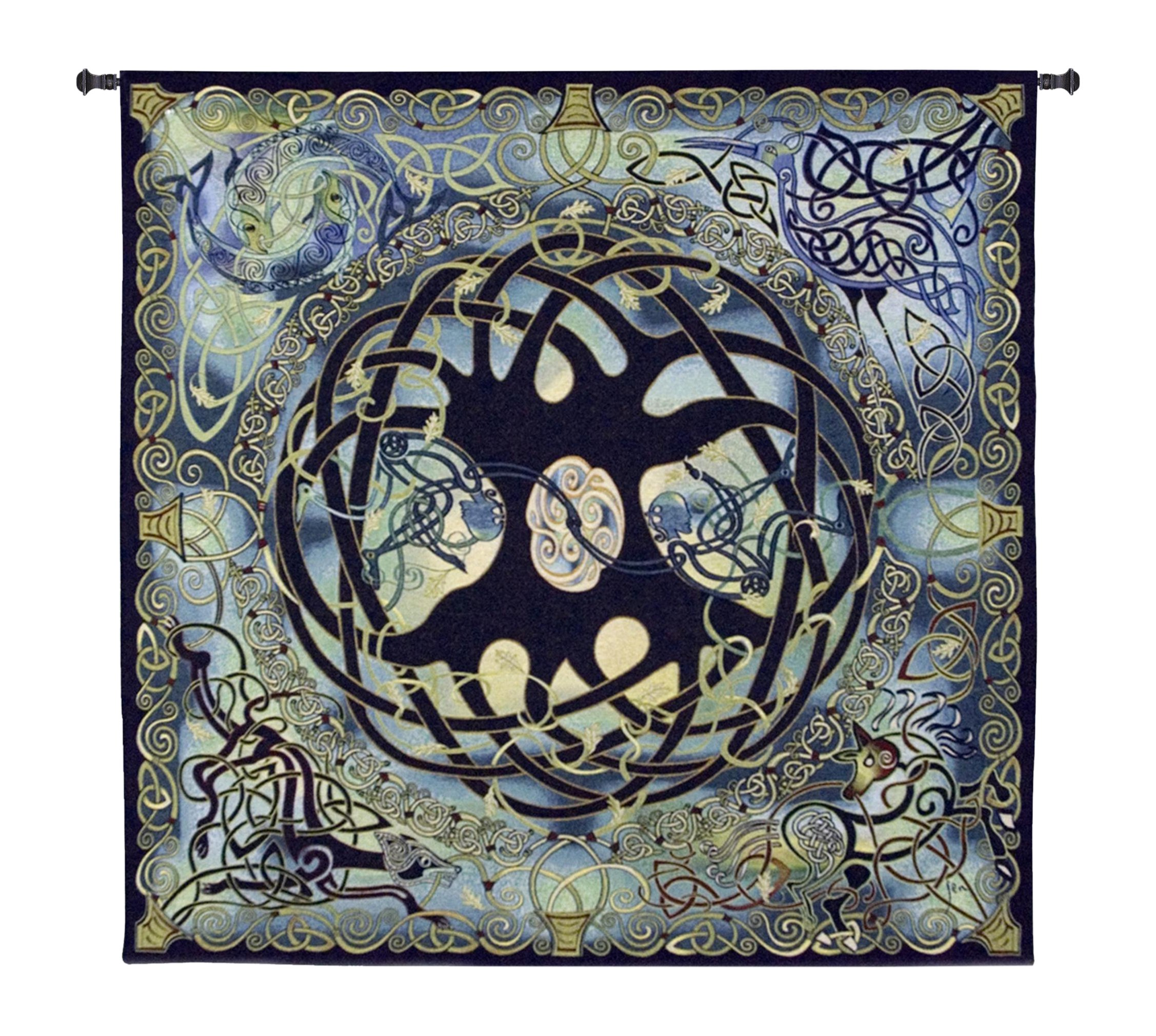 Fine Art Tapestries ''Celtic Tree Of Life'' Wall Tapestry by Fine Art Tapestries