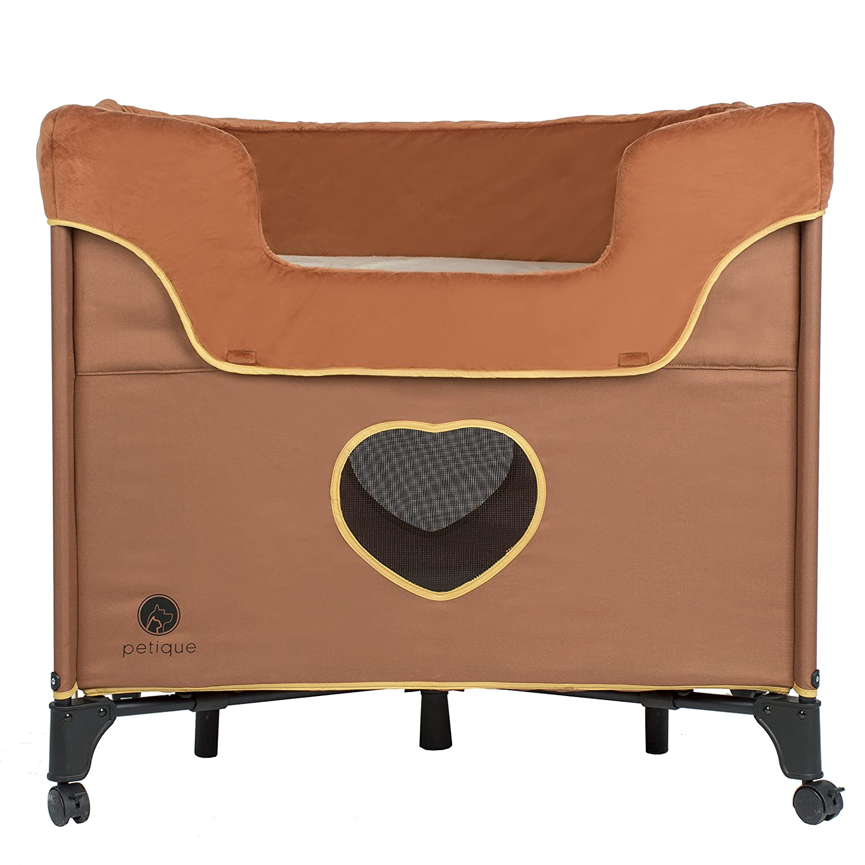 One Size Tan Petique BD01300104 Bedside Lounge-Lions Den Pet Bed