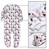 Jimonda Baby Boy Girl's 2-Pack Footie 100% Cotton