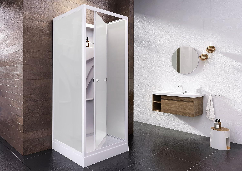 NN montado ducha completo ducha Cristal Siena, 1 pieza, 80 x 80 cm ...