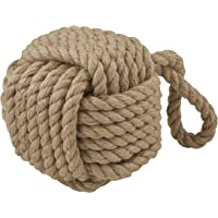 EMPORIUM HDDEE359 Beau Rope Door Stop with Cement Inner, Natural