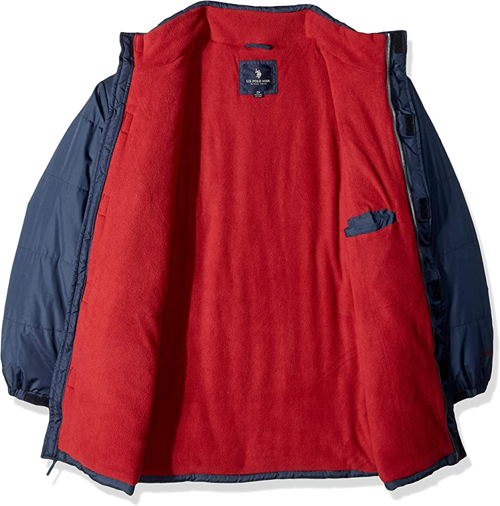 U.S. Polo Assn. Hombre Abrigo sintético - Azul - 2X más: Amazon.es ...
